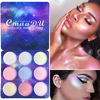 Highlighter Illuminator Makeup Face Brighten Contouring Highlighter Powder Palette