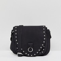 Pieces Ring Detail Crossbody Bag With Stud Detail at asos.com