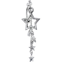 Handcrafted Chain Dangle Burst of Stars Top Mount Belly Ring | Body Candy Body Jewelry