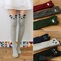Women Cute 3D Cartoon Animal Pattern Thigh Socks