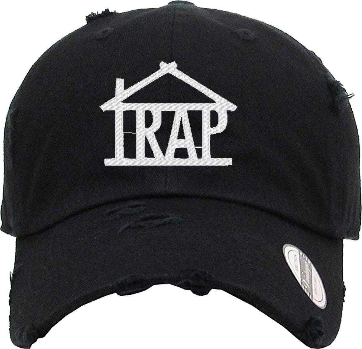 Image of TRAP HOUSE Distressed Baseball Hat