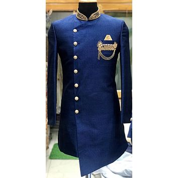 Men's silk sherwani