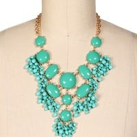 Gold/Turqiouse Bubble Necklace Set