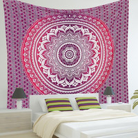 Indian Mandala Tapestry Wall Hanging Boho Printed Beach Throw Towel Yoga Mat Table Cloth Bedding Outlet Home Decor 210x150cm