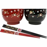 MEOTO Soup Bowl and Chopsticks Set for Gift