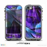 The Grunge Dark Blue Painted Overlay Skin for the iPhone 5c nüüd LifeProof Case
