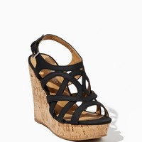 Naya Strappy Cork Wedges | Shoes Sandals | charming charlie