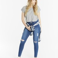 Chloe Distressed Skinny Jeans | SimplyBe US Site