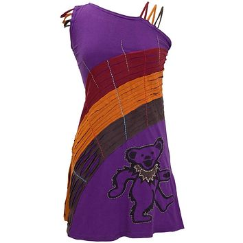 Grateful Dead - Dancing Bear Juniors Single Shoulder Dress