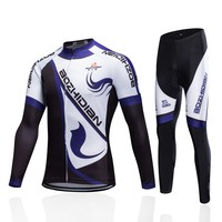 2017 New Winter Men Cycling Clothing Set Thermal Fleece Cycling Jersey Long Sleeve Mtb Ropa Ciclismo Hombre Bike Cycling Clothes