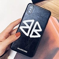 Balenciaga Fashion New Letter Print Women Men Phone Case Protective Cover