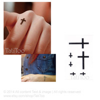 Cross - Temporary Tattoo T038