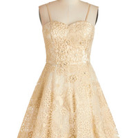 Short Length Strapless Fit & Flare Goodnight, Swoon Dress