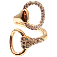 Hermes Nausicaa Croisee Diamond Large Rose Gold Ring