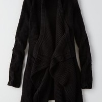 AEO Draped Cardigan, True Black   American Eagle Outfitters