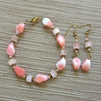Vintage Pink and Gold Set from Mystigail Adornments