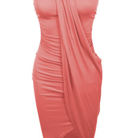 LE3NO Womens Fitted Strapless Bodycon Shirred Ruched Party Cocktail Dress