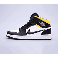 Air Jordan 1 Mid Quai 54 AJ1 Fashion Women Men Casual Flat Sport Shoes Sneakers