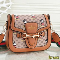 GUCCI x Disney New Popular Women Shopping Bag Leather Shoulder Bag Crossbody Satchel