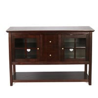 """52"""" Wood Console Table TV Stand - Espresso"""