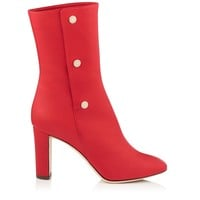Red Soft Nappa Leather Mid Calf Boots | Dayno 85 | Autumn Winter 15 | JIMMY CHOO Shoes