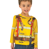 Toddler Fireman Long Sleeve Shirt *Ready to Ship*