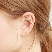 Rhinestone Triangle Ear Cuff