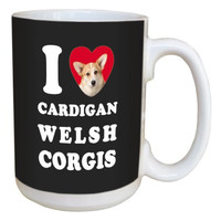 Tree Free Greetings LM45028 I Heart Cardigan Welsh Corgis Ceramic Mug with Full-Sized Handle, 15-Ounce