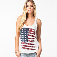White Stars and Stars Painted Tank Top