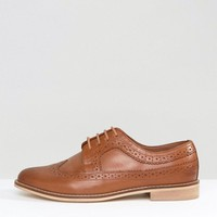 ASOS MAI Wide Fit Leather Brogues at asos.com