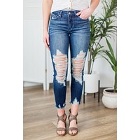 Kan Can- Hadley Distressed Skinnies