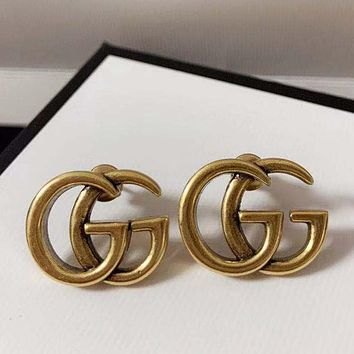 GUCCI GG retro earrings classic temperament fashion personality letter earrings