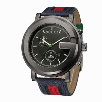 GUCCI Woman Men Fashion Stripe Quartz Watches Wrist Watch