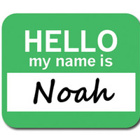 Noah Hello My Name Is Mouse Pad
