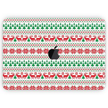 """Knitted Ugly Christmas Sweater V2 - Skin Decal Wrap Kit Compatible with the Apple MacBook Pro, Pro with Touch Bar or Air (11"""", 12"""", 13"""", 15"""" & 16"""" - All Versions Available)"""