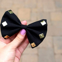 Black Studded Bow by LiaBellaShop on Etsy