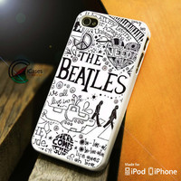 The Beatles Doodles iPhone 4 5 5c 6 Plus Case, Samsung Galaxy S3 S4 S5 Note 3 4 Case, iPod 4 5 Case, HtC One M7 M8 and Nexus Case