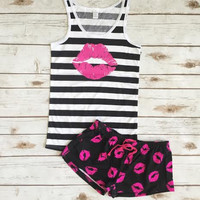 Kiss Kiss Pajama Set