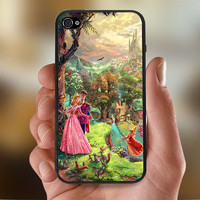 Disney Beautiful Sleeping Beauty Art  - Photo Print for iPhone 4/4s Case or iPhone 5 Case - Black or White