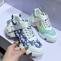 Dior CD new daddy shoes thick-soled sports lace-up white shoes casual women's shoes