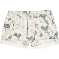Erdem Catrina floral-print silk-satin shorts – 69% at THE OUTNET.COM
