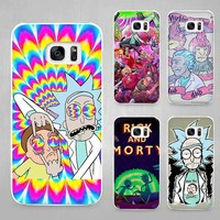 Rick and Morty Season Hard White Coque Shell Case Cover Phone Cases for Samsung Galaxy S4 S5 S6 S7 Edge Plus