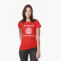 Big Brother Is Watching You Illuminati Eye T Shirt by bitsnbobs