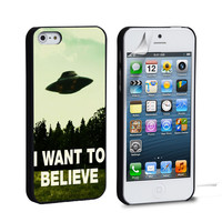 I Want To Believe UFO Aliens iPhone 4 5 6 Samsung Galaxy S3 4 5 iPod Touch 4 5 HTC One M7 8 Case