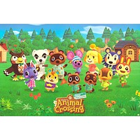 Poster: Animal Crossing New Horizons Video Game Poster 24x36