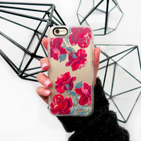 Floral iPhone 6s & 6s Plus Case (Red Roses Pattern) by Casetify