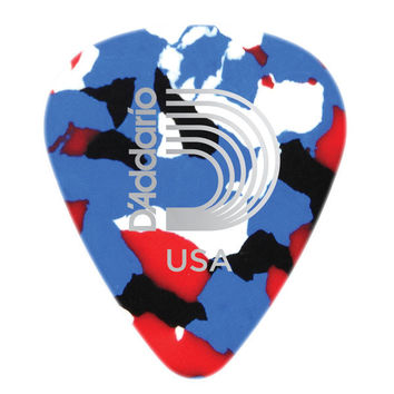 D'Addario Classic Celluloid Guitar Picks in Multi-Color, 10 Pack