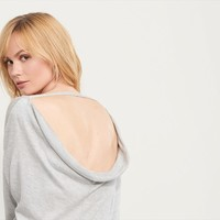 Knit Top with Back Detail