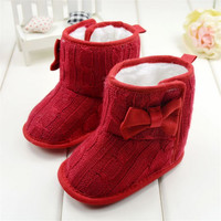New Born Baby Shoes Infants Crochet Knit Fleece Boots Toddler Girl Boy Wool Snow Crib Shoes Winter Booties 3-18 Months