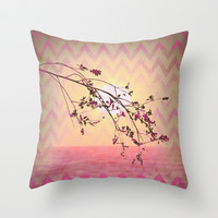 chevron memory Throw Pillow by Marianna Tankelevich